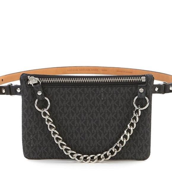 MICHAEL Michael Kors Handbags - MICHAEL Michael Kors Pull Chain Signature Belt Bag